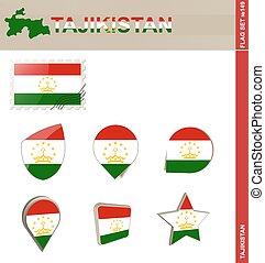 Tajikistan Flag Set, Flag Set #149
