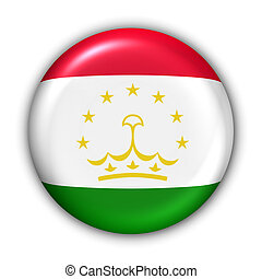 World Flag Button Series - Asia - Tajikistan (With Clipping Path)