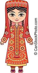 Tajikistan. Historical clothes.