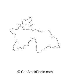 Tajikistan map silhouette