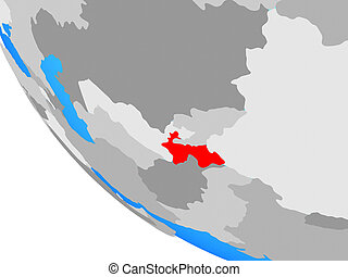 Tajikistan on globe