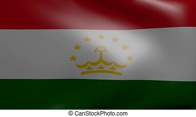 tajikistan strong wind flag