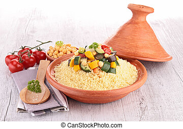 tajine with vegetarian couscous