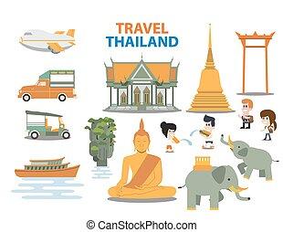 tajlandia, podróż, punkty orientacyjny