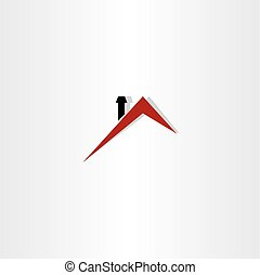 tak, hus, logo, symbol, design, vektor