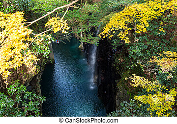 Takachiho Gorge in Japan at autumn