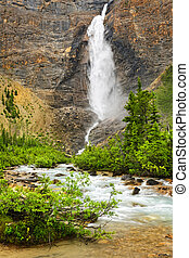 Takakkaw Falls waterfall in Yoho National Park, Canada -...