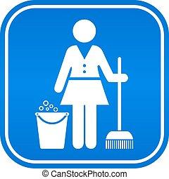 takarítás, szolgáltatás, ikon
