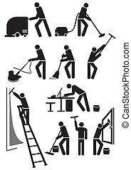 takarítónők, pictogram