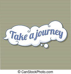 Take a journey sticker icon, cartoon style - Take a journey...