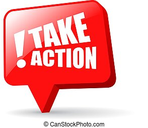 Take action glossy web icon