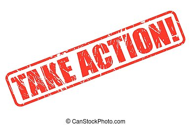 Take Action red stamp text