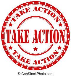 Take Action-stamp
