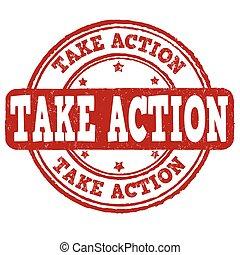 Take action stamp