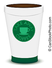 Take Away Brown Coffee in Plastic Cup On White Background