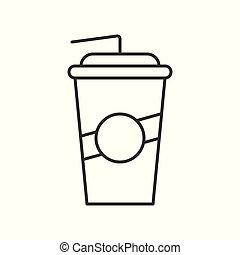 take away soft drink, Food outline icon