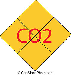 Take care of co2 sign