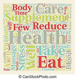 Take Care of Your Health Easy Steps text background...