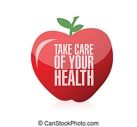 take care of your health illustration design