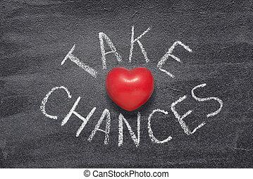 take chances heart