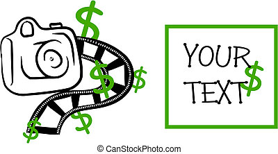 Take money on your picture - vector