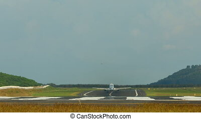 Take-off - Airplane take-off, International Phuket Airport,...