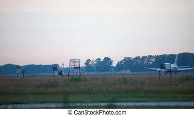 Take off. Climb. - Jet airplane take-off from Tolmachevo...