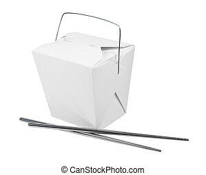 Take Out Box and Metal Chopsticks