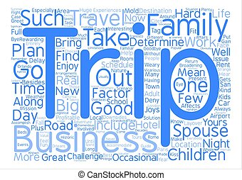 Take the Family With You text background word cloud concept