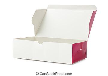 Takeaway Cake Box On White Background