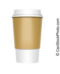 Takeaway Coffee - A computer illustration of a takeaway...