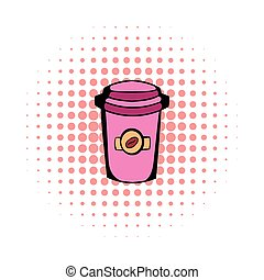 Takeaway coffee cup comics icon