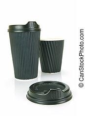 Takeaway Coffee Cups - Takeaway coffee cups isolated against...