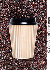 Takeaway disposable coffee cup - Photo of a disposable paper...