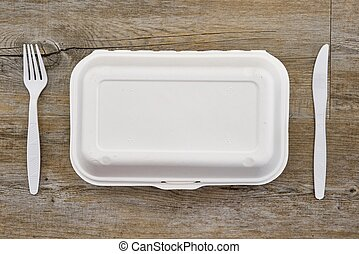 A studio photo of a takeaway food container