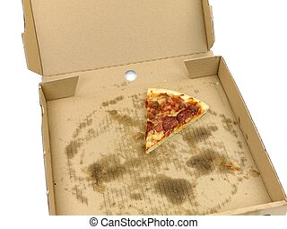Takeaway Pizza - Fresh pizza isolated against a white...