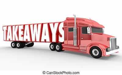 Takeaways Truck Semi Hauler Information Knowledge 3d Illustration