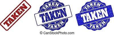 TAKEN Grunge Stamp Seals