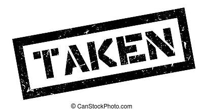 Taken rubber stamp