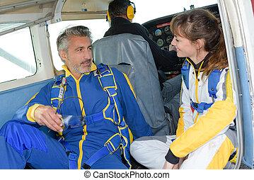 takeoff towards skydiving