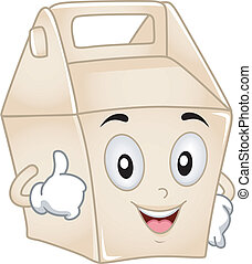 Takeout Box Mascot