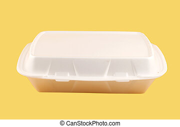 takeout container - styrofoam take-out food container on a ...