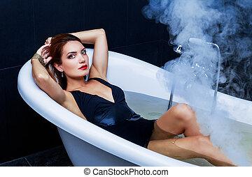 takign, 여자, 목욕