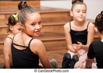 Taking a break from dance class