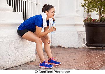 Taking a break from running