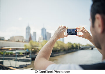 Taking A Photo Of Australia Cityscape