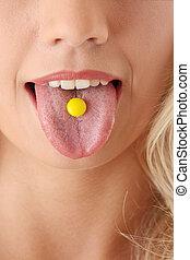 Taking a prescription drug