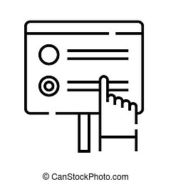 Taking a test line icon, concept sign, outline vector illustration, linear symbol.