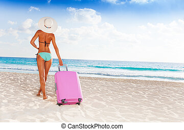 Taking baggage to vacation