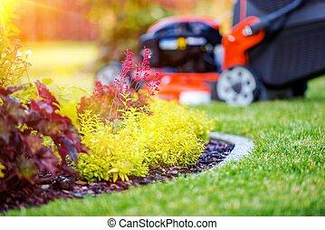 Taking Care of Garden Concept